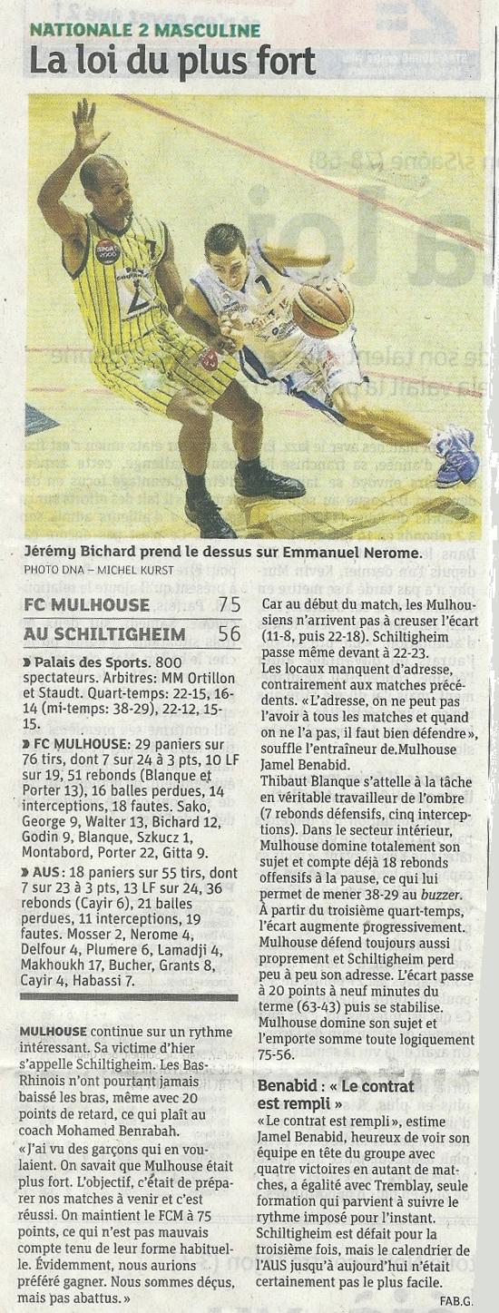 [J 04] FCMB - AU Schiltigheim : 75 - 56 13-schilti