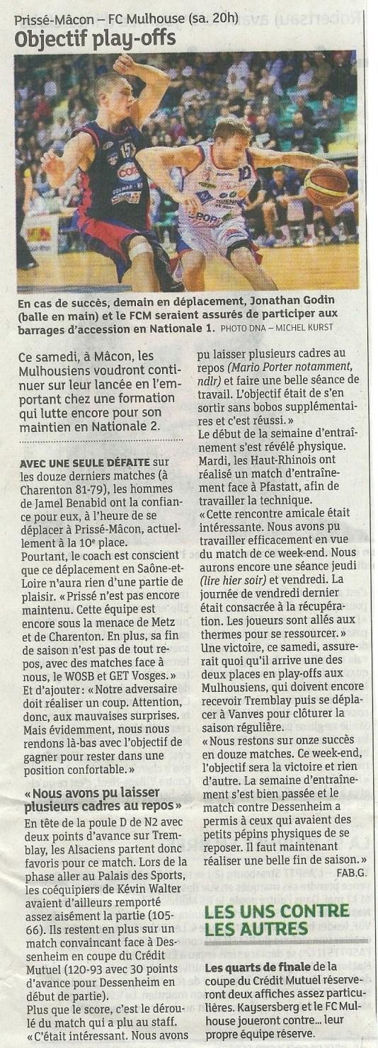 [J 24] Prissé Macon - FCMB : 64-89 2014-PM