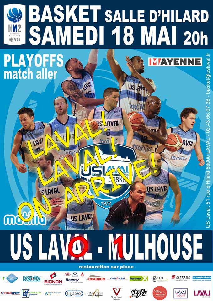 [PO 2019] Match #1 : US Laval Basket - MPBA : 72-85 PO