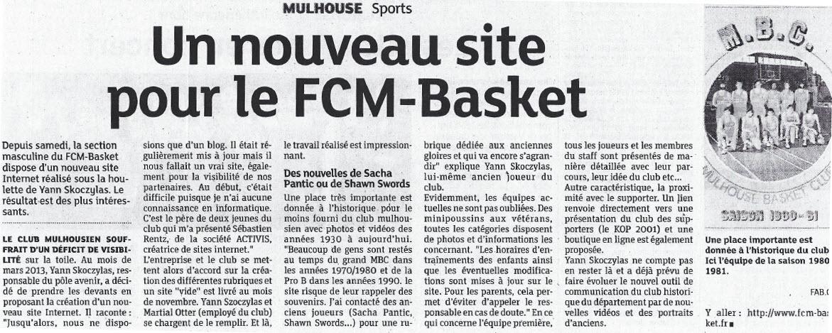 Le nouveau SITE INTERNET du FCM BASKET Sitedn