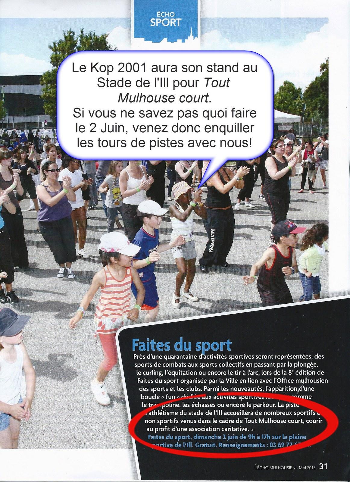 """Participation du KOP 2001 à """"TOUT MULHOUSE COURT"""" le Dimanche  02/06/2013 Tmc"""