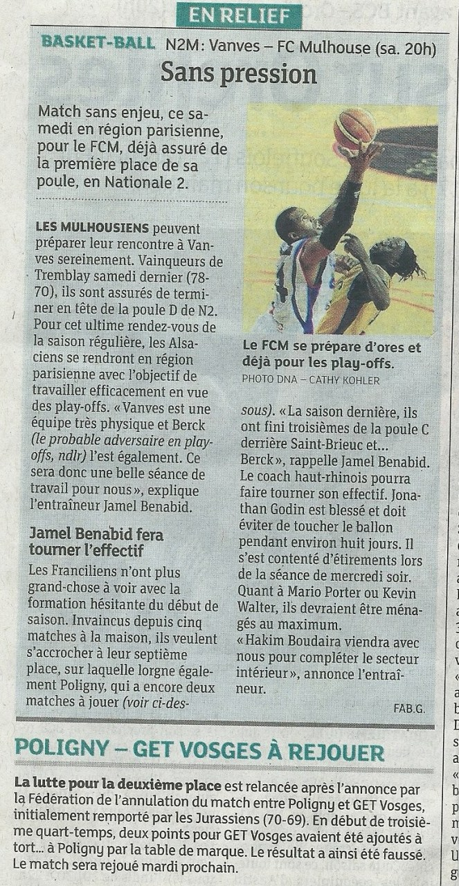 [J.26] Vanves - FCMB : 82-77 Vanves-2014